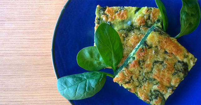 Frittata al forno con spinaci