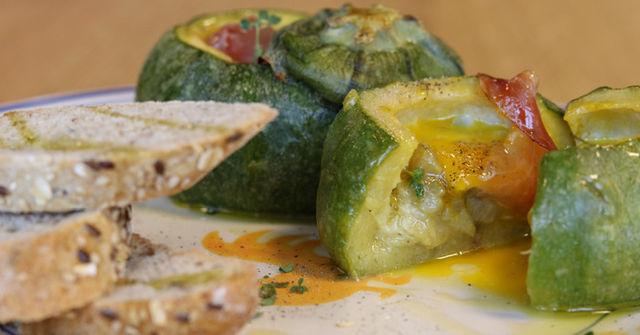 Zucchina tonda ripiena