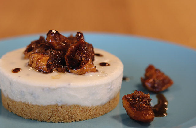 Cheesecake salata con i fichi
