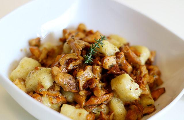 Gnocchi di patate con funghi